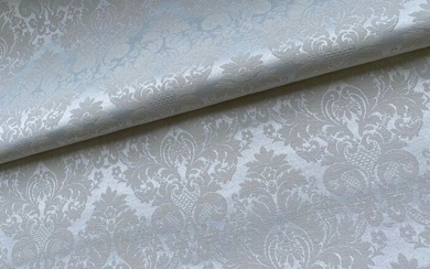 280x270 cm damask San Leucio mother of pearl - Louis XVI - Silk, silk blend - Second half 20th century