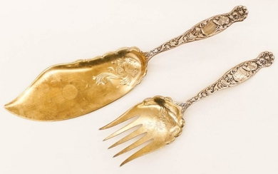 2pc Whiting ''Heraldic'' Sterling Serving Pieces.