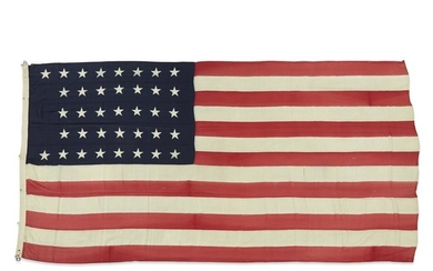 A 37-Star American Flag used in the Hayes/Wheeler Presidential...