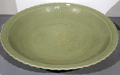 A CHINESE CELADON CHARGER