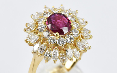 A CLUSTER DRESS RING