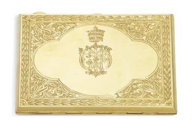 A GOLD PRESENTATION CIGARETTE-CASE, UNMARKED, CIRCA 1950