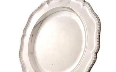 A George II silver second course plate, by...