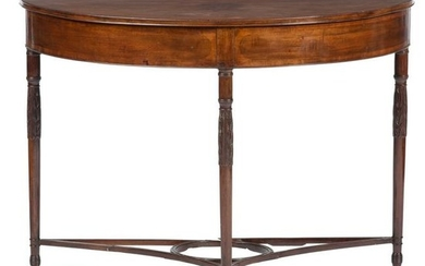 A New York Federal Carved and Figured Mahogany