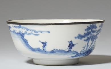 A blue and white bowl for the Vietnamese market. 19th century