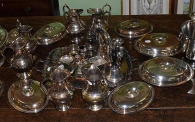 A good selection of silver-plated hollow ware and table ware...