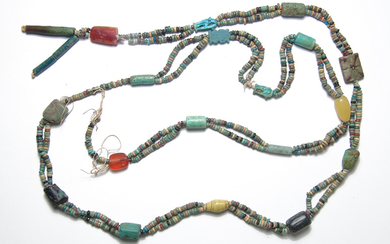 A huge strand of primarily Egyptian faience beads