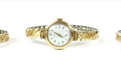 A ladies' gold Pesag mechanical bracelet