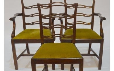 A set of seven early 20th Century mahogany dining chairs in ...