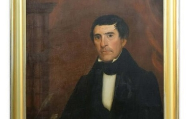 AMERICAN SCHOOL PORTRAIT OF AN ATTORNEY C.1830 ARTIST