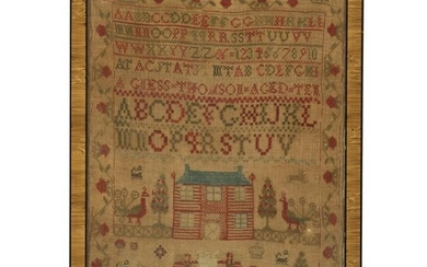 American School Early 19th C. Embroidered Sampler