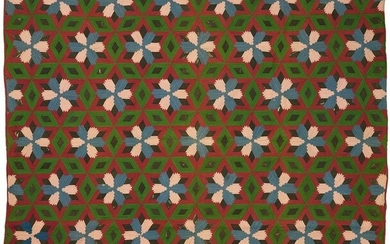 American Wool & Cotton Quilt, Pineapple variant