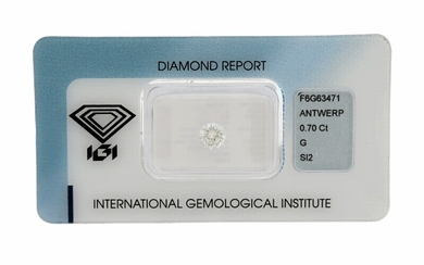 An unmounted brilliant-cut diamond weighing 0.70 ct. Colour: Top Wesselton. Clarity: SI2. – Bruun Rasmussen...