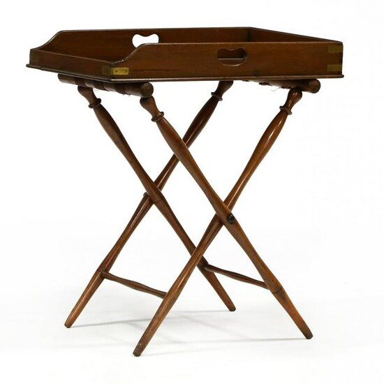Antique Mahogany Butler's Tray on Stand