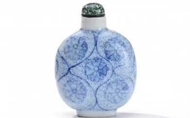 Blue and White Porcelain Snuff Bottle, Chinese