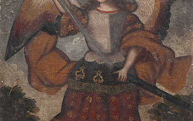 CUZCO SCHOOL, PROBABLY 18TH CENTURY. Archangel Michael.