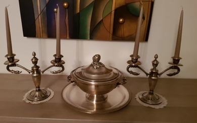 Candlestick (2) - Silver plated