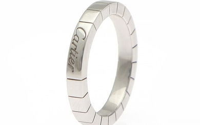 """Cartier: """"Laniere"""" ring of 18k white gold. Serial no. CV 2763. W. 3 mm. Size 54."""