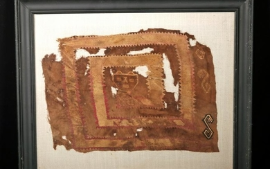Chancay Textile Panel Fragment: Abstract Serpent