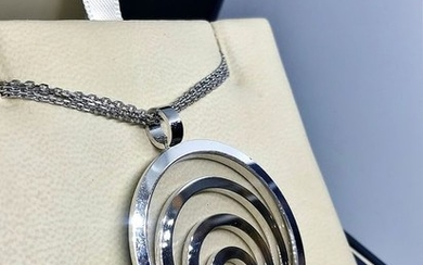 Chopard - 18 kt. White gold - Necklace with pendant - 0.10 ct Diamond