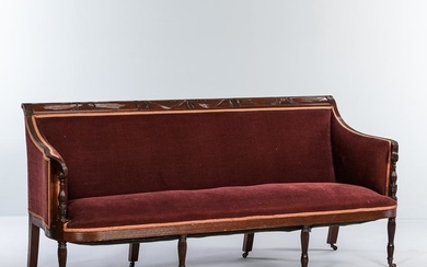 Classical-style Duncan Phyfe-type Carved Mahogany Sofa