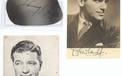 Collections Americana A group lot (9 items) including Danny Kaye cut signature; Fred Dupre sign...