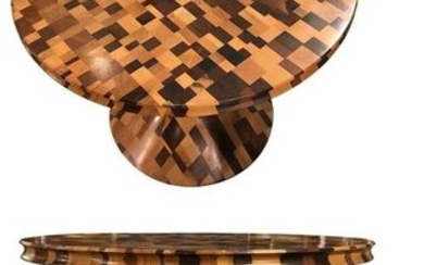 Contemporary Handcrafted Studio Round Coffee Table 21st