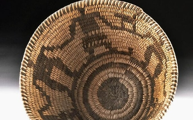 Early 20th C. Papago Basket Male / Female Dancers