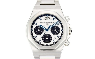 GIRARD-PERREGAUX | LAUREATO, REFERENCE 81020, A STAINLESS STEEL CHRONOGRAPH WRISTWATCH WITH DATE, CIRCA 2018