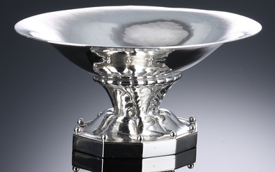 Georg Jensen. Candy bowl in hammered sterling silver, 1925-1933