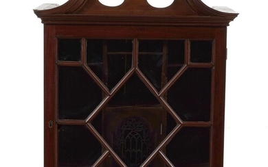 George III carved mahogany collector's cabinet