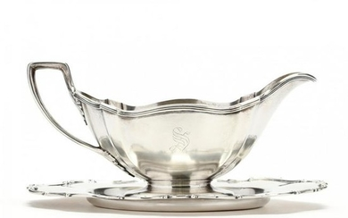 Gorham Sterling Silver Sauce Boat and Undertray