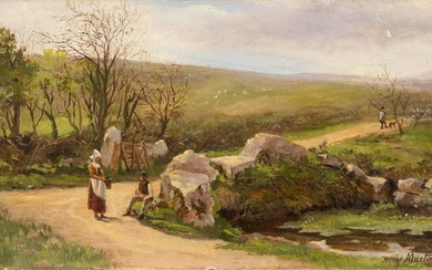 HENRY MARTIN 1835 Painswick - 1908 Country road in