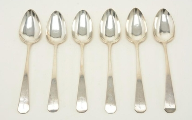 Henry Farnam colonial American coin silver tablespoons