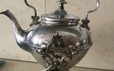 Kettle on stand and burner, Samovar, Teapot (1) - Victorian - Silver plated