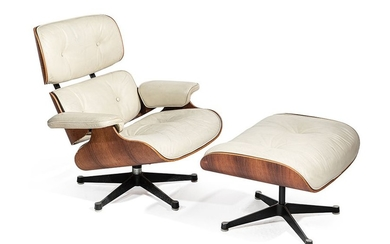 LOUNGE CHAIR AND OTTOMAN Model designed by Charles...