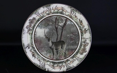 Large Royal Doulton South African Series 'Waterbuck'African Game Reserve Wall Plate Dia 35cm