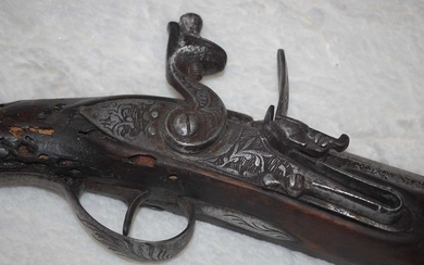 North Africa - arme de guerre (supposé) - Flintlock - Rifle