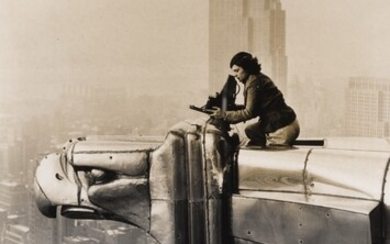 Oscar Graubner, Margaret Bourke-White atop the Chrysler Building
