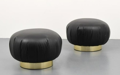 Pair of Ottomans, Manner of Karl Springer