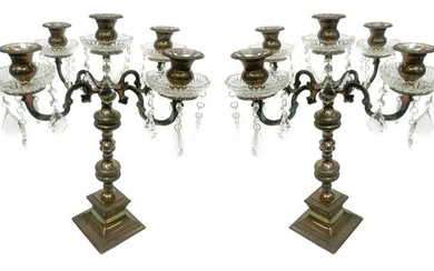Pair of candlesticks in royal shieffiled (England)