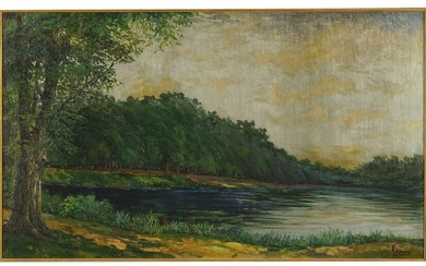 R. Sievers (20th Century) River Scene.