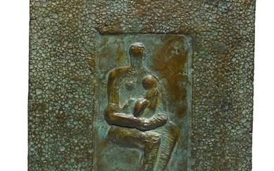 RELIEF: SEATED MOTHER AND CHILD, Henry Moore