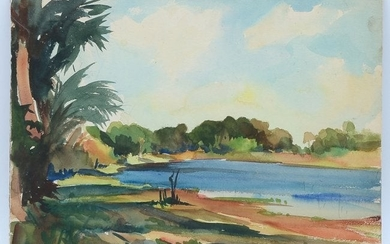 STANLEY WOODWARD FLORIDA WATERCOLOR PAINTING