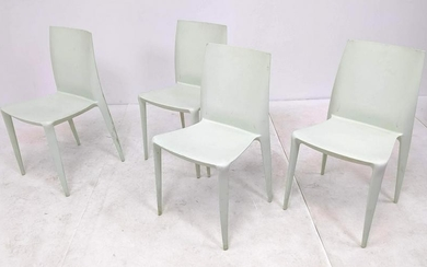 Set 4 BELLINI Plastic Stacking Chairs Made by Heller in