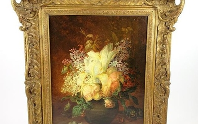 T.F. Wainewright(1831-1883) Still Life Oil on Canvas