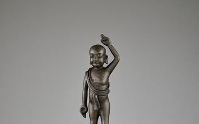 THE INFANT BUDDHA, BRONZE STATUE, LATE MING TO...