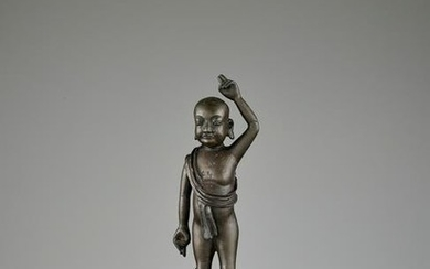 THE INFANT BUDDHA, BRONZE STATUE, LATE MING