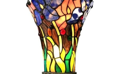 Tiffany Style Floral Stained Glass Table Lamp