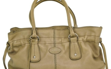 Tods Beige Leather Bag